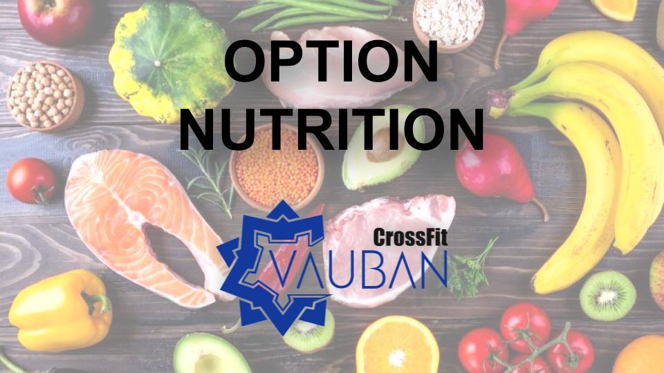 Nutrition CrossFit Vauban Lille